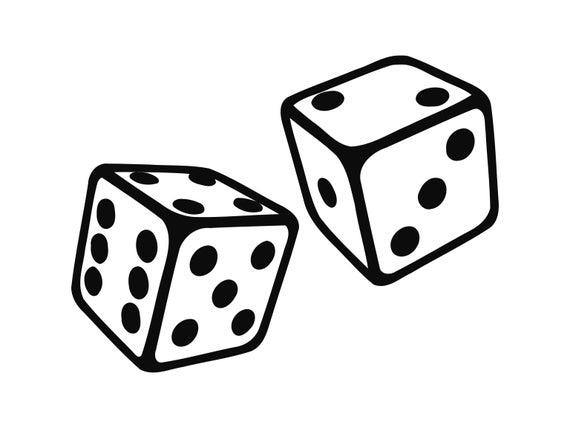Svg game casino gambling. Dice clipart gamble