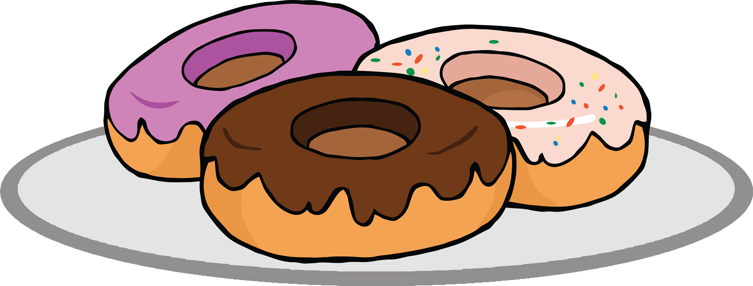 collection of donuts. 3 clipart donut