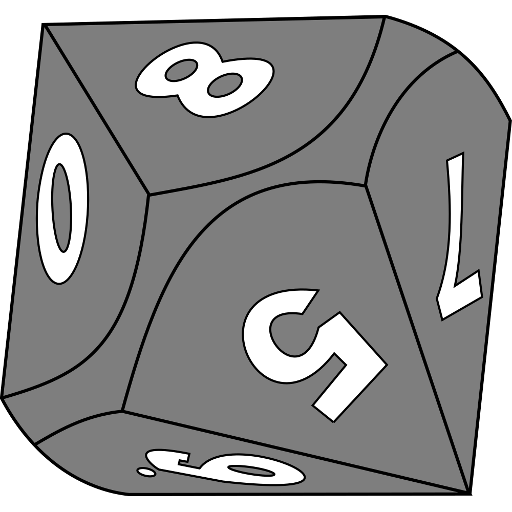 Dice clipart line art. Onlinelabels clip sided die