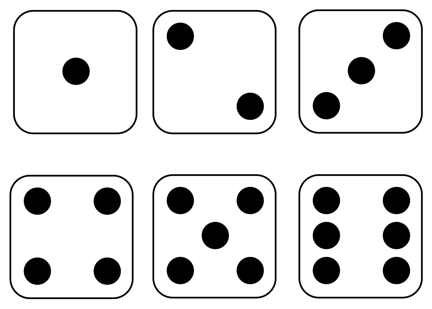 collection of numbers. Number 1 clipart dice