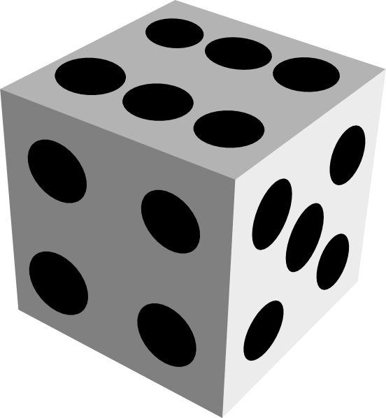 Square clipart dice.  free images clip