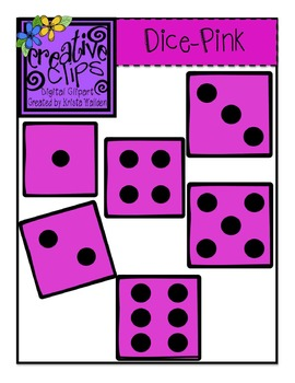Dice clipart pink.  free creative clips