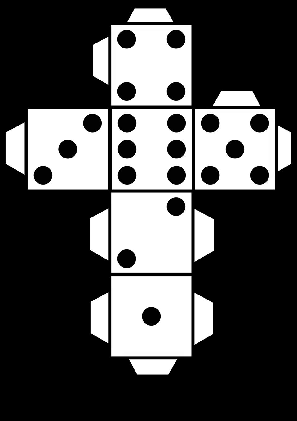 Dice clipart public domain. Clip art image printable