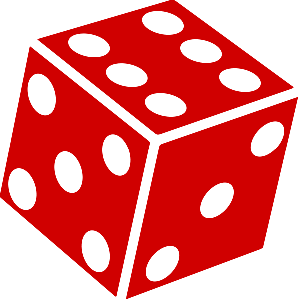 One dice panda free. Game clipart probability