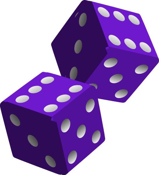 Two purple dice clip. Game clipart ludo