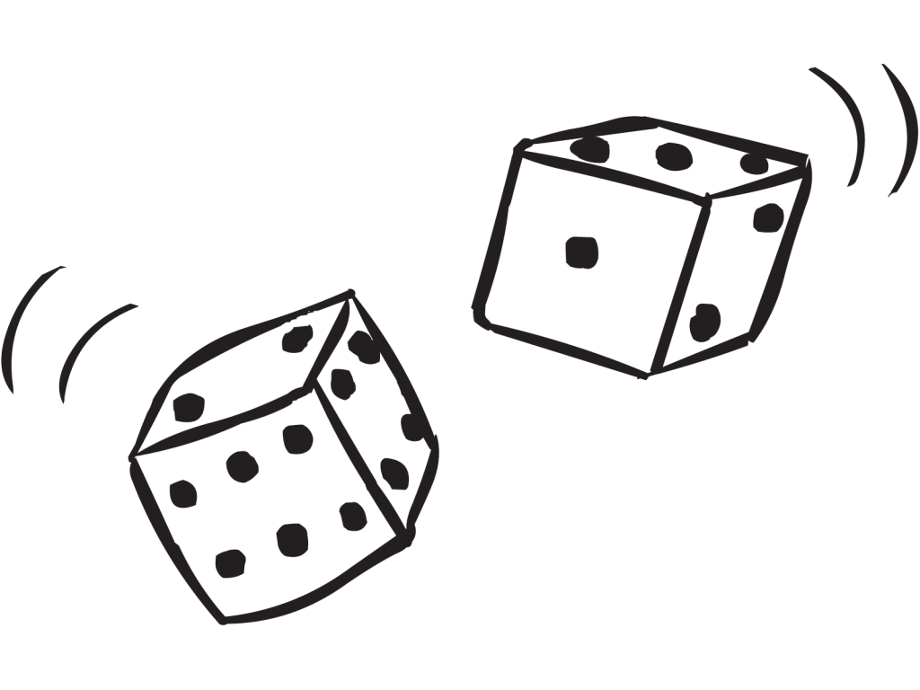 Double game contagiously fun. Gaming clipart dice card