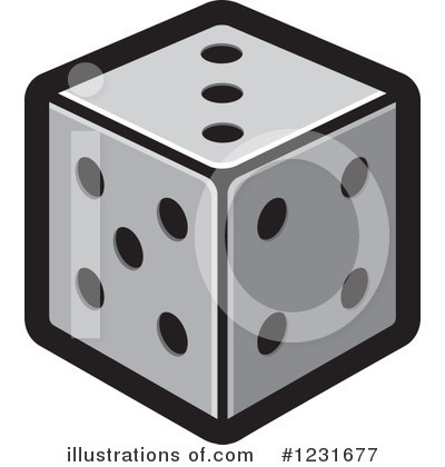 Illustration by lal perera. Dice clipart royalty free