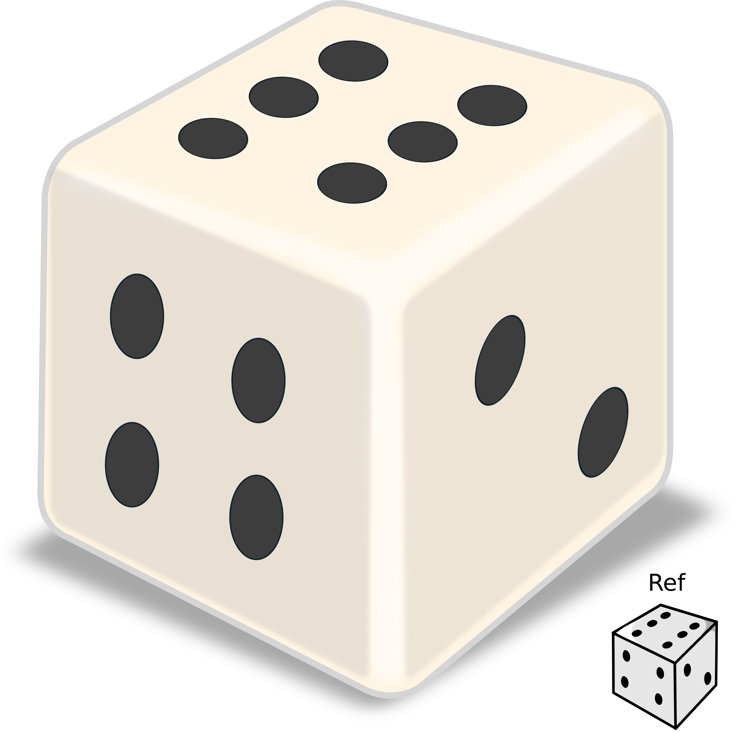 Shiny big image png. Square clipart dice