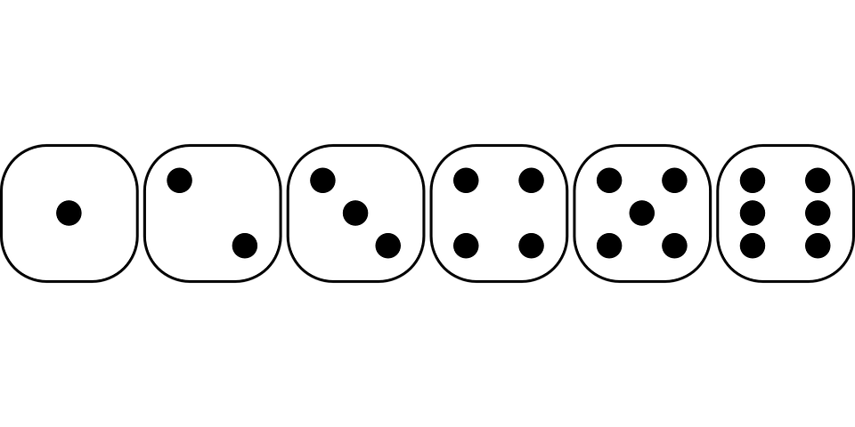 Face group games game. Number 1 clipart dice