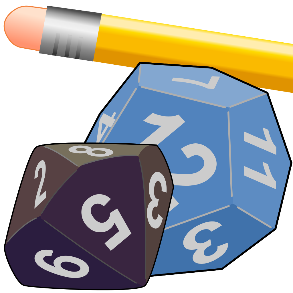 File role playing icon. Games clipart tabletop game