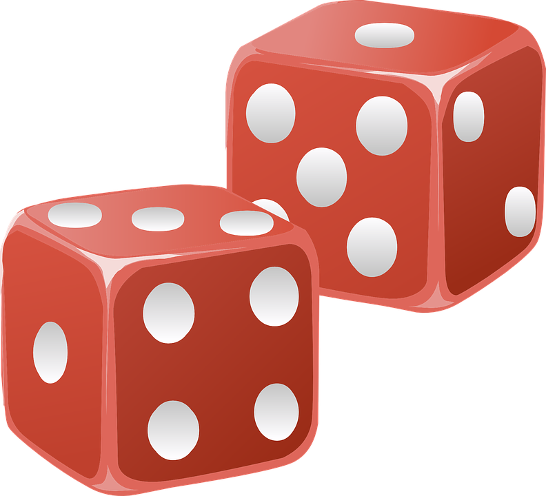 Dice magic free collection. Square clipart different