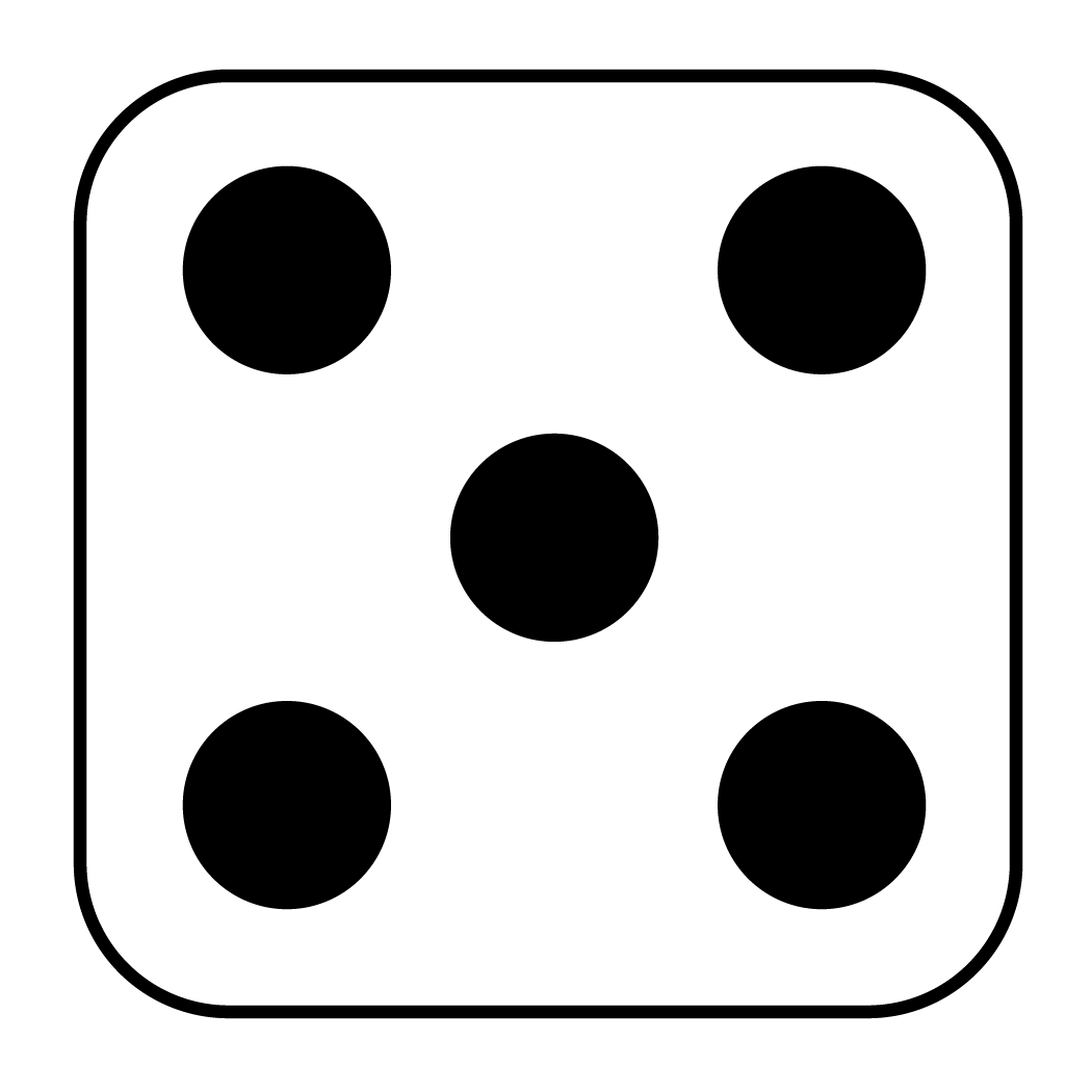 Dot clipart one.  images of dice