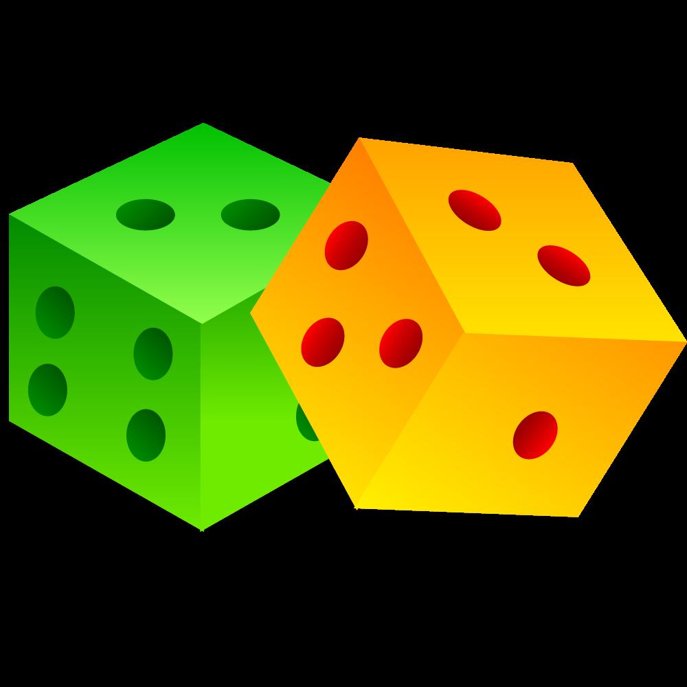 Dice clipart yellow dice. Cartoon model transprent png