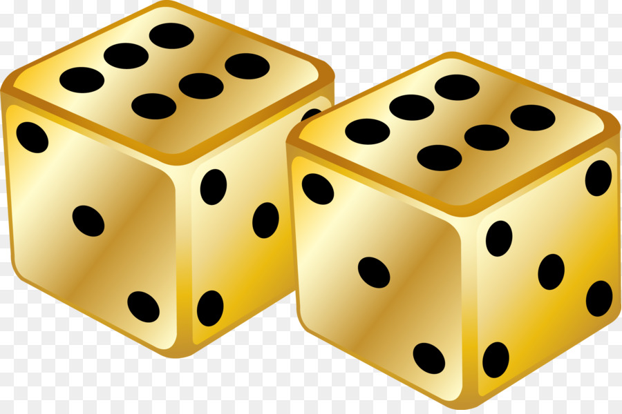 Background game transparent . Dice clipart yellow dice