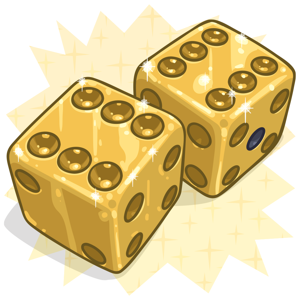 Dice clipart yellow dice. Item detail golden itembrowser