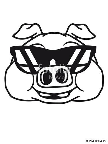 Gesicht kopf cool sonnenbrille. Dick clipart