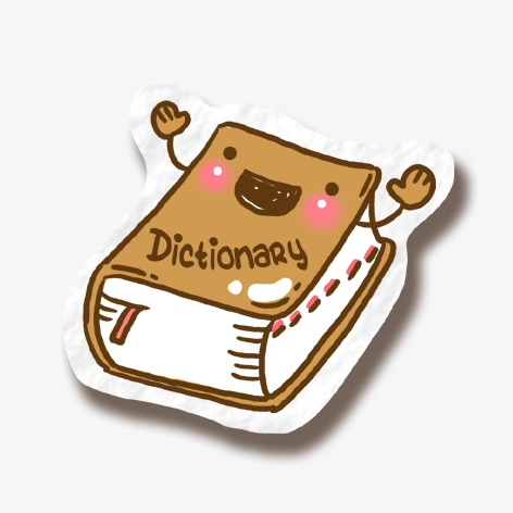 Dictionary clipart. Cartoon lovely learn png