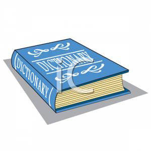 A blue image . Dictionary clipart