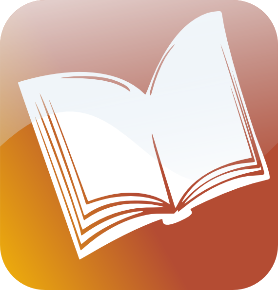 Book icon clip art. Dictionary clipart a to z