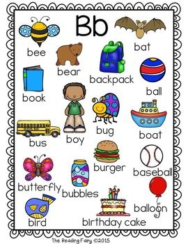 Alphabet picture for writing. Dictionary clipart a to z