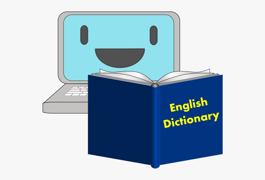 Dictionary cliparts cartoons . English clipart appropriate language