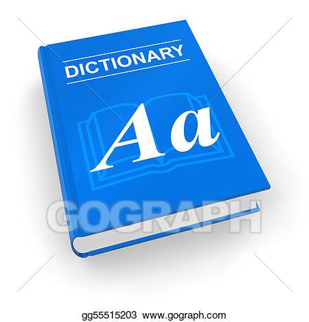 Stock illustration illustrations . Dictionary clipart blue