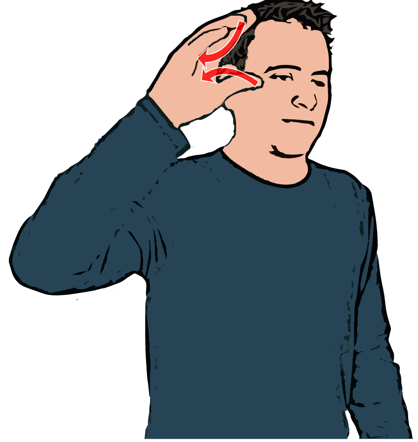 British sign language learn. Dictionary clipart content