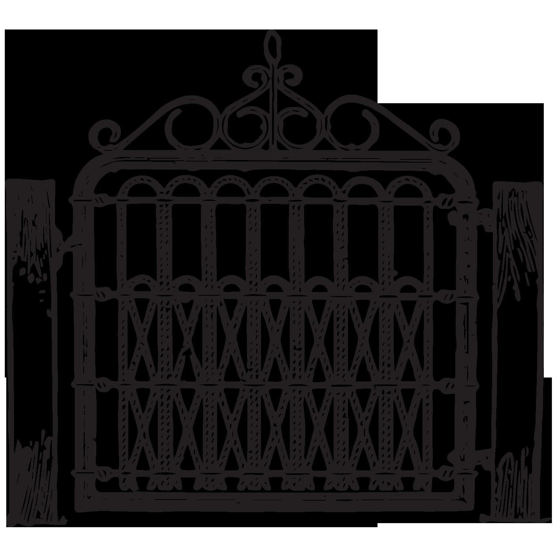 Gate clipart matel. Free vintage graphic pinterest