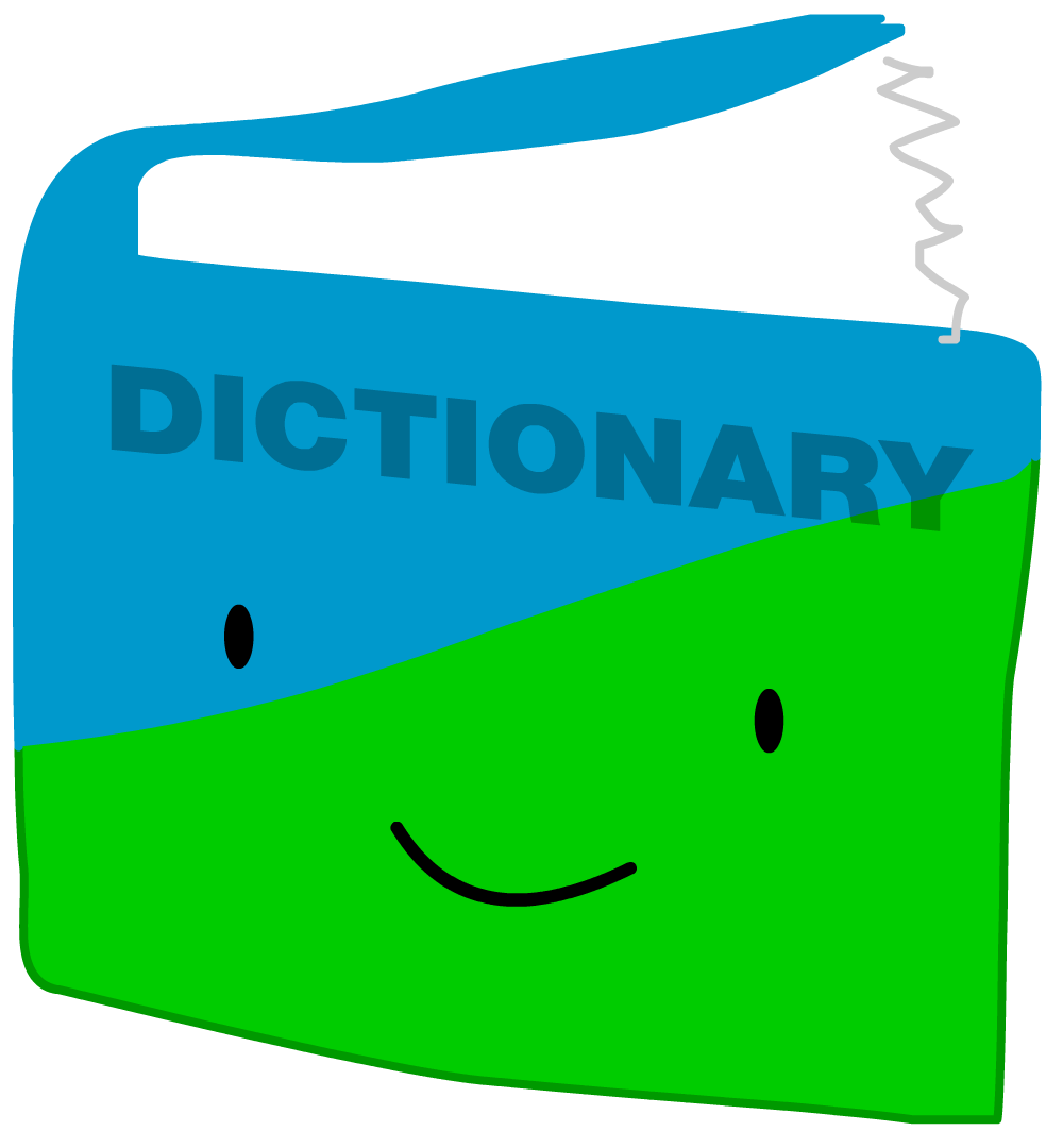 Variations of book battle. Dictionary clipart dictionary page
