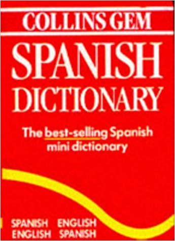 Dictionary clipart dictionary spanish. Collins gem english