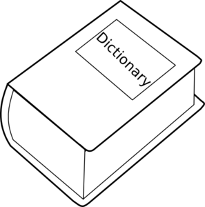 Dictionary clipart dictonary. Free cliparts download clip