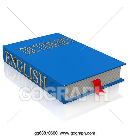 Dictionary clipart english dictionary. Stock illustration