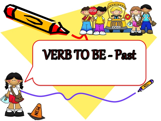 Dictionary clipart english tense. Simple past to be