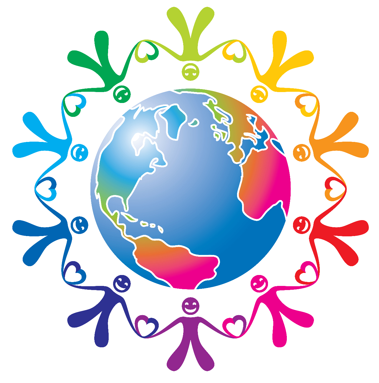Changing phase european day. Group clipart togetherness