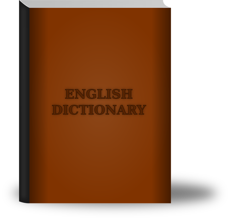 Word imposing toeic. Dictionary clipart grammar