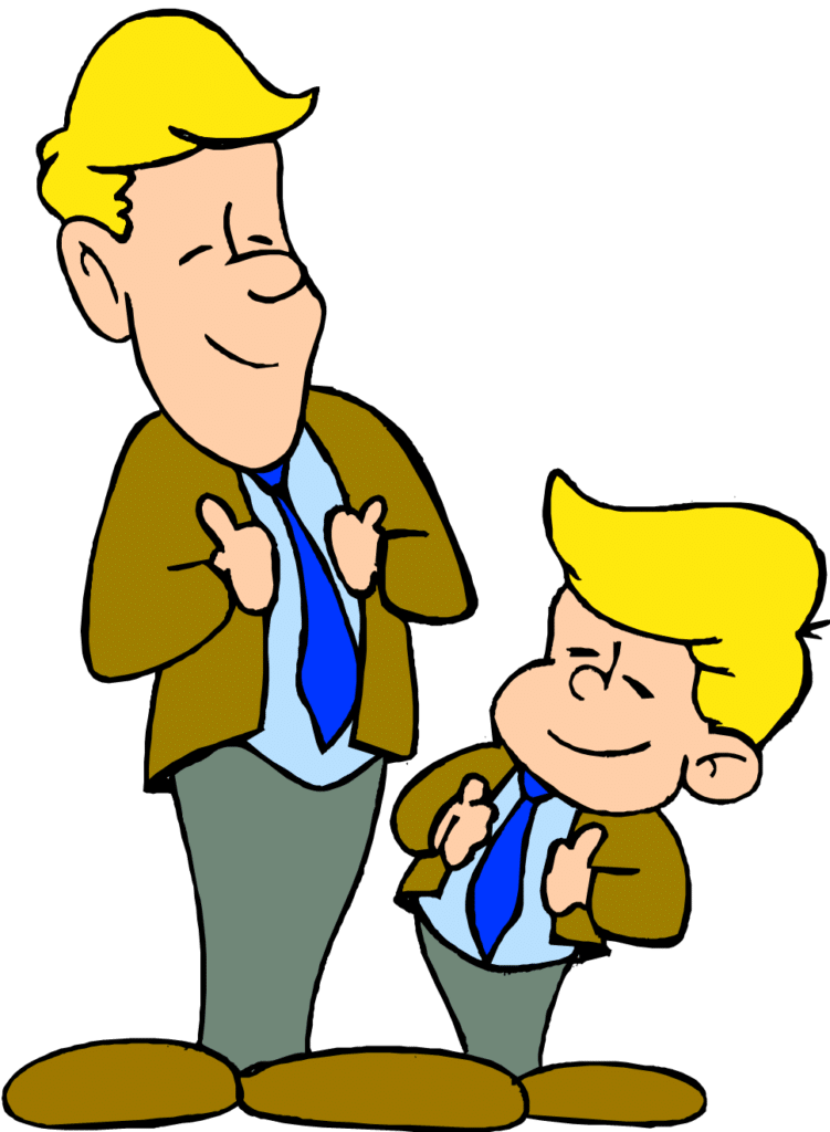 Son clipart happy father. Learn basic asl sign
