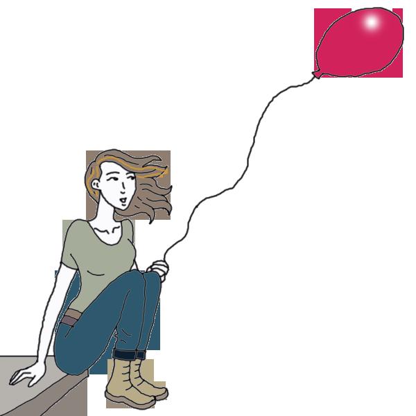 Balloon dream interpret now. Dictionary clipart look back