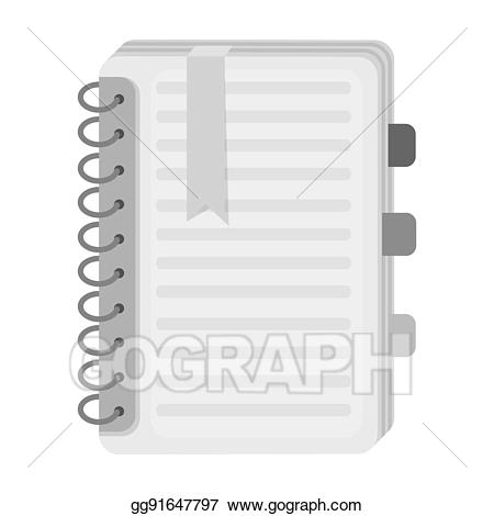 Dictionary clipart personal. Icon in monochrome style