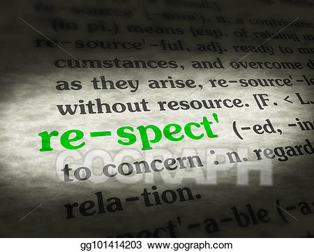Stock illustrations respect green. Dictionary clipart source