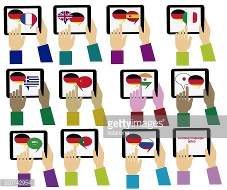 E german mobile learning. Dictionary clipart source