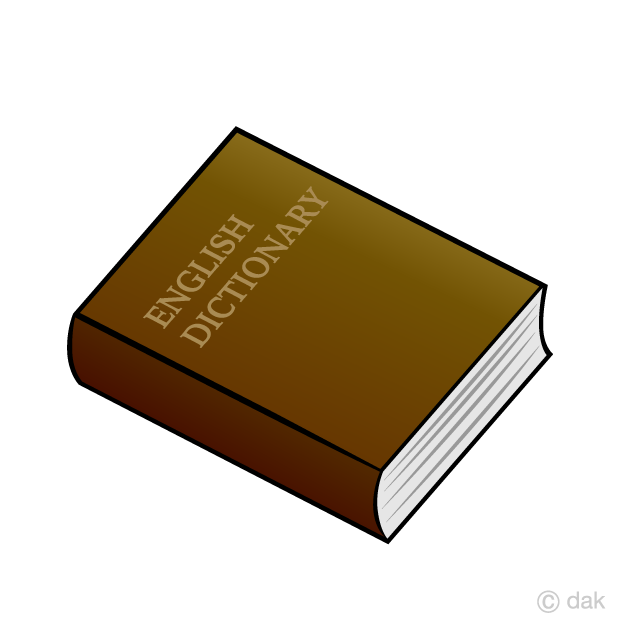 English free picture illustoon. Dictionary clipart unique