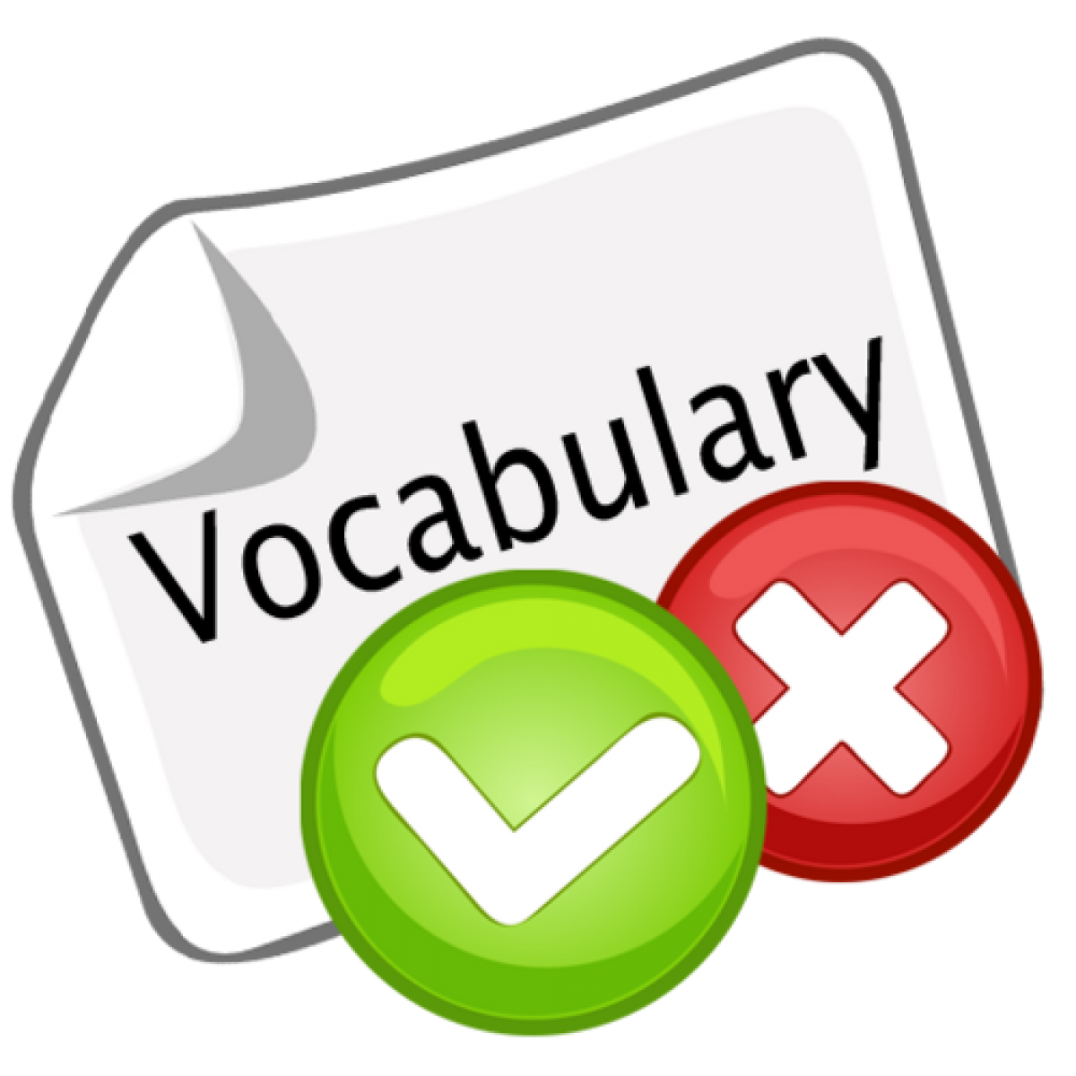 Words clipart quiz.  collection of vocabulary