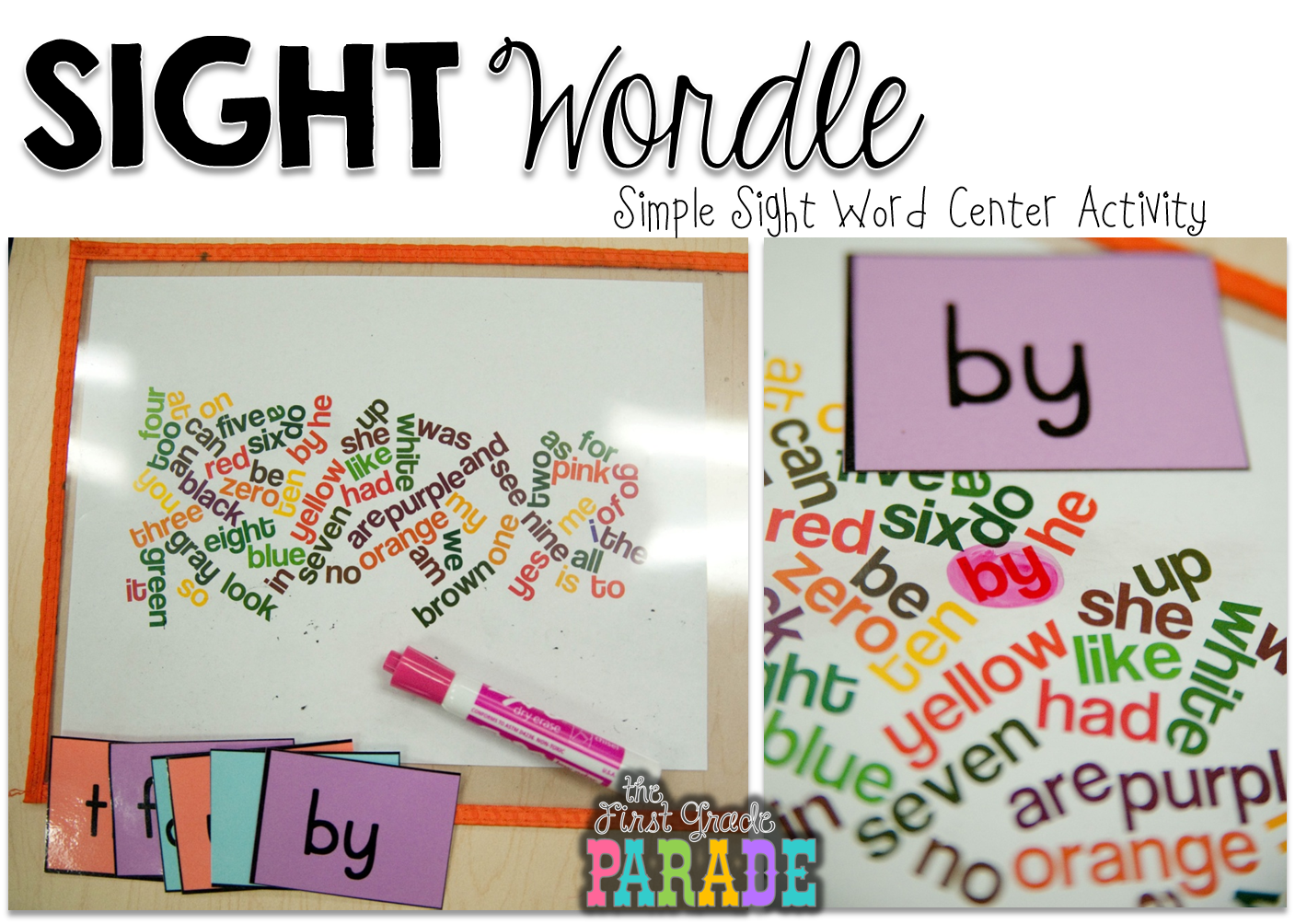 Dictionary clipart word work center. Sight wordle simple the