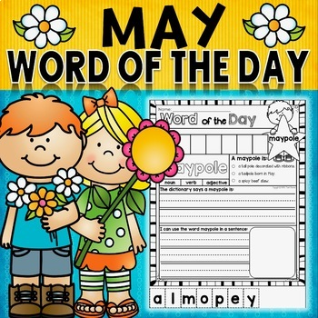 Of the day may. Dictionary clipart word work center