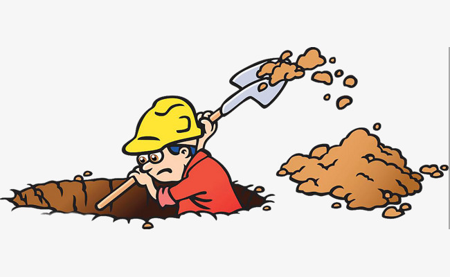 Digging the workers cartoon. Dig clipart