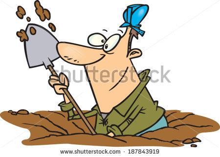 Dig clipart. Man digging clip art