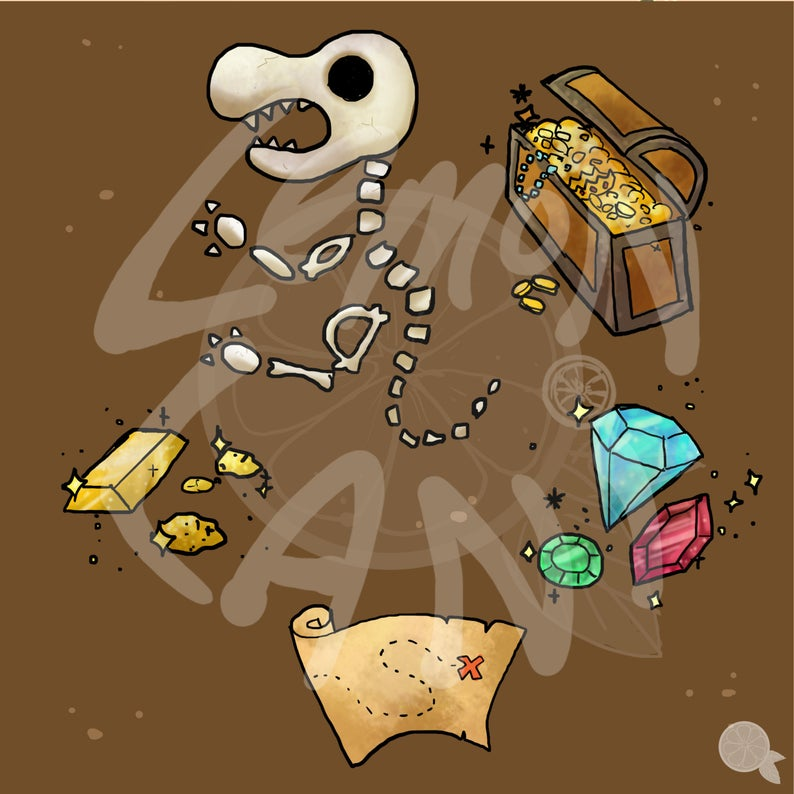 Dig clipart buried treasure.  off it series