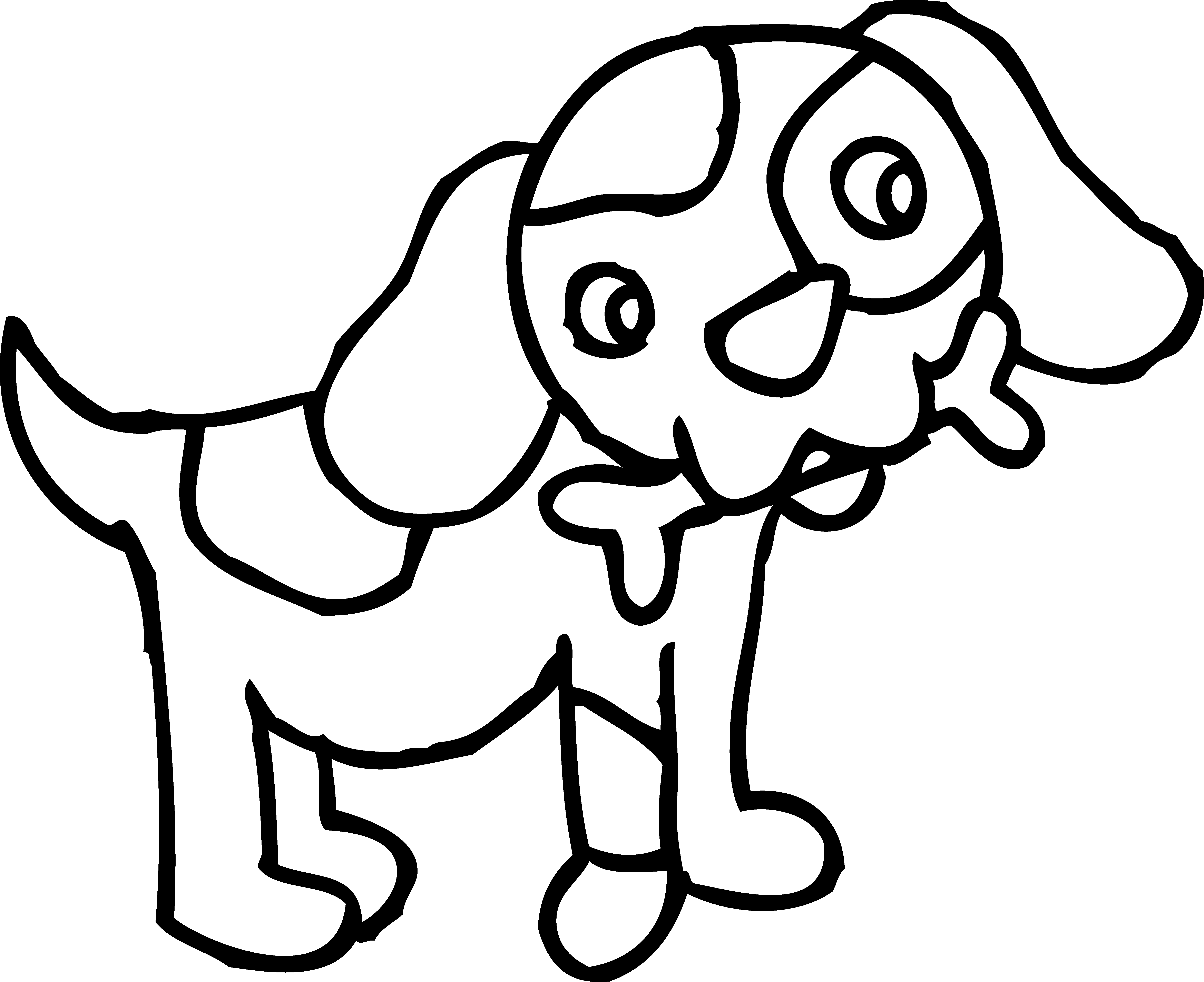 Black and white letters. Dig clipart dog