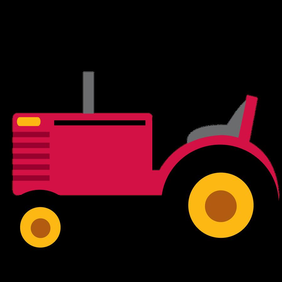 purple clipart tractor
