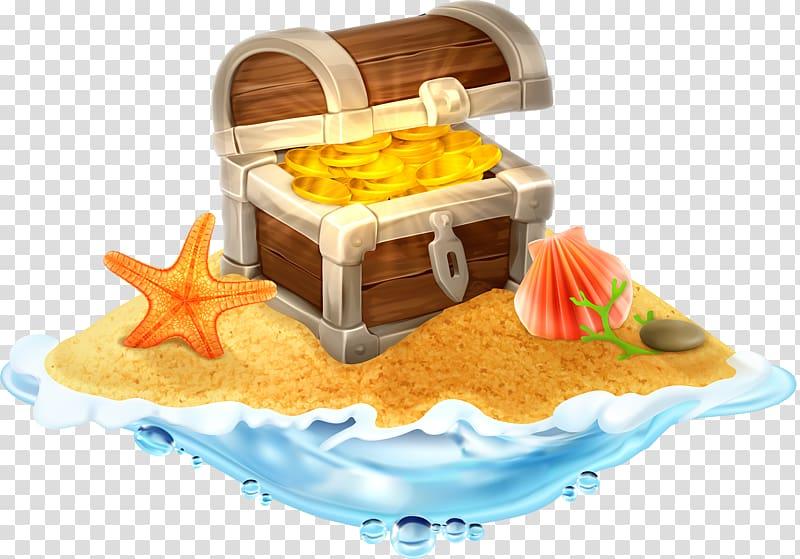 Chest box illustration island. Dig clipart hidden treasure